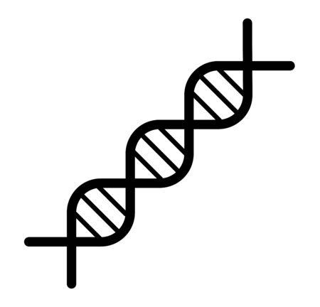 DNA icon. Chromosome strand symbol design. Vector logo. Abstract symbol.