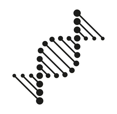 Abstract DNA strand symbol. biotech icons, modern medicine and science technologies - logo design elements, labels, badges, logotype templates.