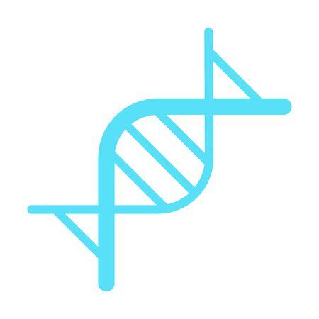 DNA, genetic sign. vector logo. DNA icon Vector RNA gene. Çizim