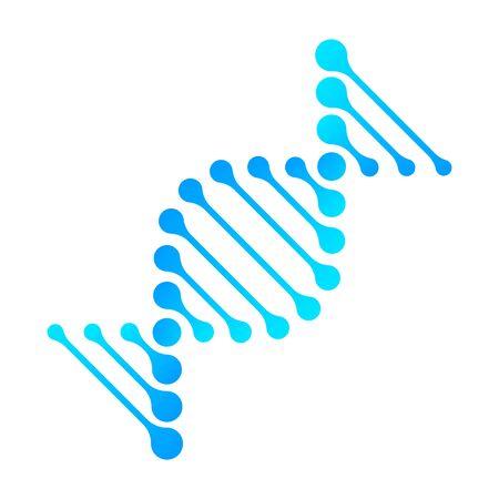DNA icon Vector RNA gene fun funny chromosome line icon Structure molecule communication elements atom neurons. Genetics Vector Design.