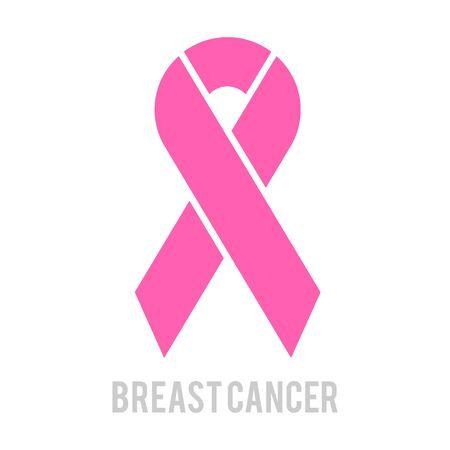 Breast cancer awareness month design of pink ribbon. Stroke Pink Ribbon. Standard-Bild - 131551520