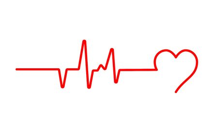 Heart beat pulse flat vector icon for medical apps and websites. Blood pressure , cardiogram, health EKG, ECG logo.