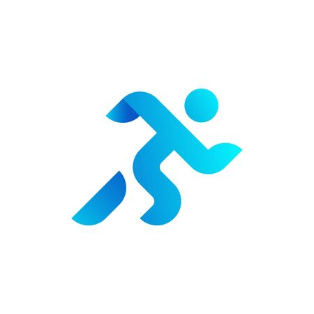Running man, athletics, marathon, summer sport, run icon isolated on white background. Minimal cover design. Creative line-art set.