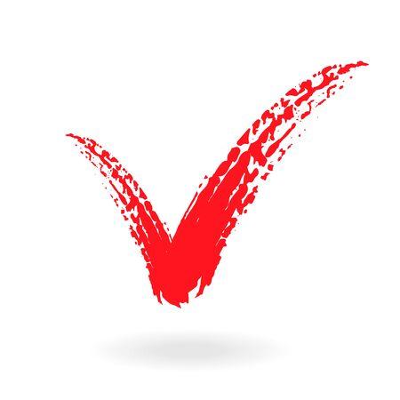 A check mark symbol in color, vector illustration.