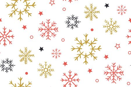 Christmas background with snowflakes. Abstract christmas pattern. Can be used for winter holiday invitations, greeting cards, prints. Children s geometric cover for the design of greeting card, wallpaper.