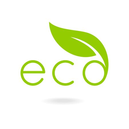 Eco-icons. Caption eco. Eco badge, ecology label, nature view.
