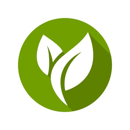 Flat leaves icons. Vector illustration. Leaf Icon Vektoros illusztráció