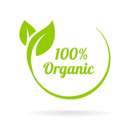 Leaf logo shape icon and green leaf logo emblem.