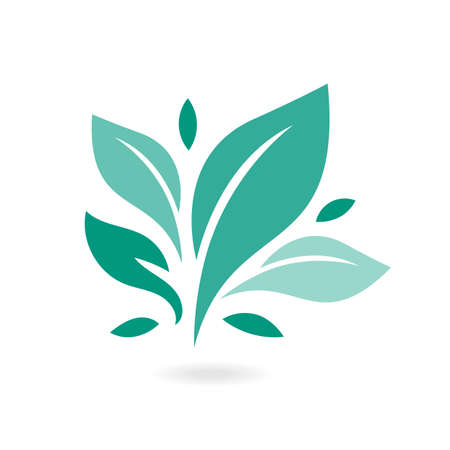 Tree leaf ecology nature vector icon. Eco icon green leaf vector illustration isolated. Plant, tree leaves illustrations. Signs of organic food, natural material, bio ingredient, eco emblem.