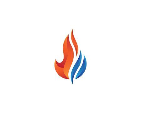 Icône de vecteur de modèle de logo de flamme de feu Concept de logo de pétrole, de gaz et d'énergie
