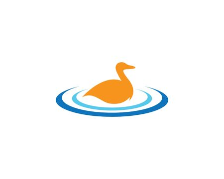 Duck logo template vector icon illustration 向量圖像