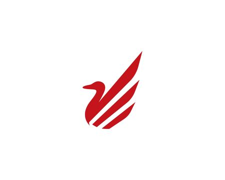 Duck logo template vector icon illustration 向量圖像