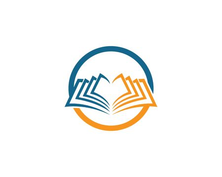Book logo icon illustration design