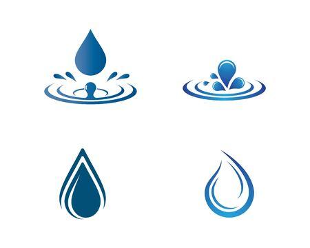 Water drop logo template vector icon illustration design