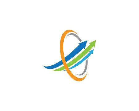 Arrow logo template vector icon illustration design Ilustração