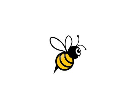 Bee vector icon illustration