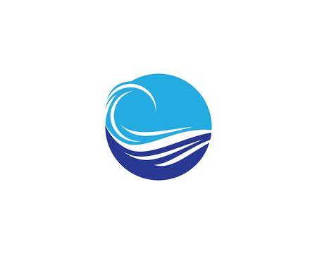 Water wave logo vector icon illustration design Çizim