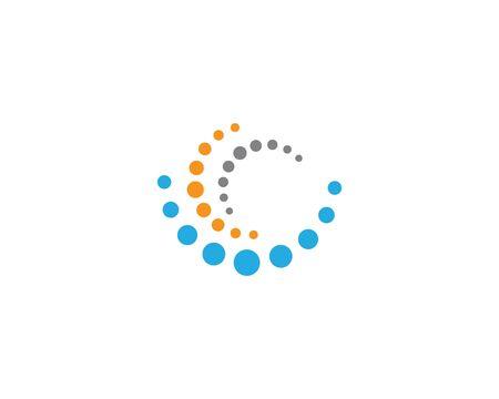 Molecule logo template vector icon illustration design Logo
