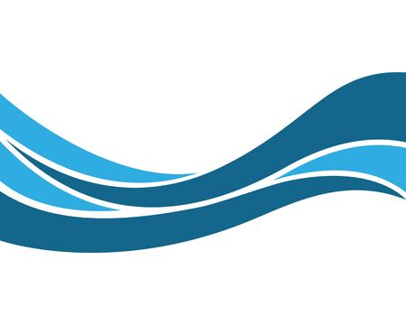 Water wave vector icon illustration Vector Illustration