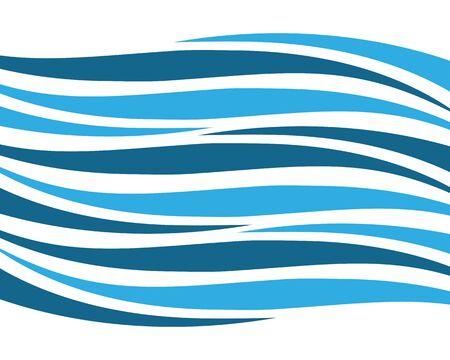 Illustration d'icône de vecteur de vague d'eau