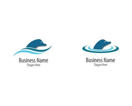 Dolphin logo template vector icon illustration design