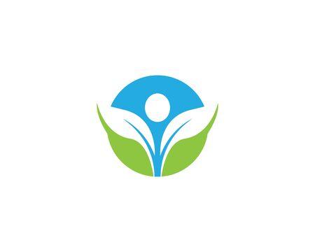 Healthy life logo template vector icon illustration design Illustration