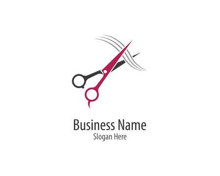 Scissors logo template vector icon illustration design
