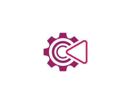 Play logo icon illustration