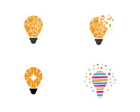 Lightbulb logo template vector icon illustration design Logo
