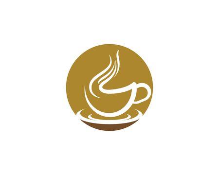 Coffee cup logo template vector icon design 向量圖像