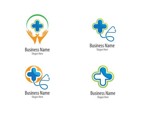 Medical logo template vector icon illustration design