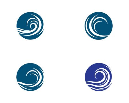 Water wave logo vector icon illustration design 向量圖像