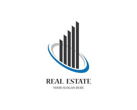 Real estate logo icon illustration design Stock fotó - 148081444