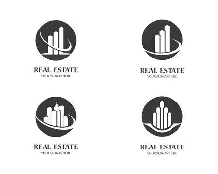 Real estate logo icon illustration design