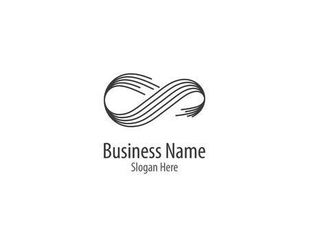 Infinity logo template vector icon illustration design