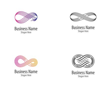Infinity logo template vector icon illustration design Ilustração
