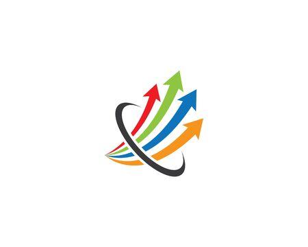 Arrow logo template vector icon illustration design
