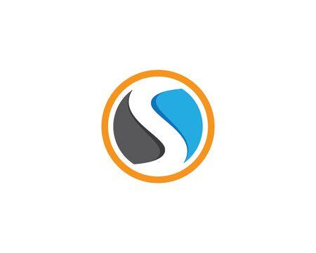 S letter logo vector icon illustration design