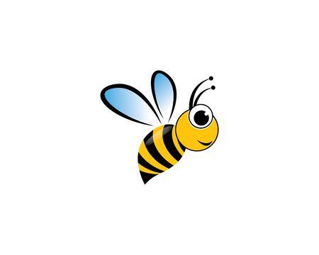 Bee logo vector icon illustration 向量圖像