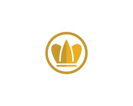 Crown Logo Template vector illustration