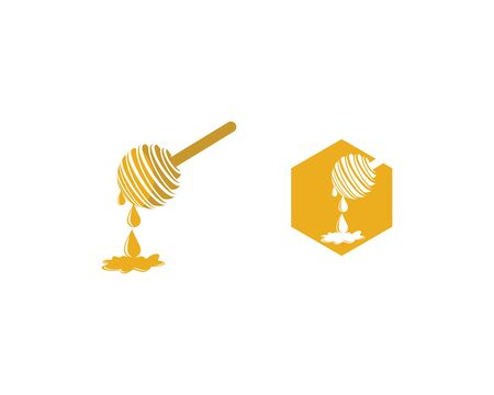 Honey logo template vector icon illustration design