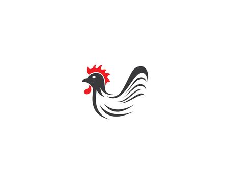 Rooster logo template vector icon illustration