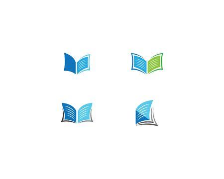Book logo icon illustration design Иллюстрация