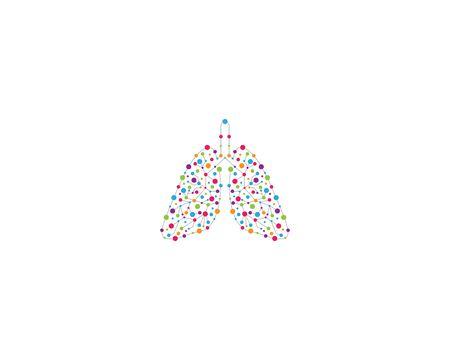 Lung logo template vector icon illustration design