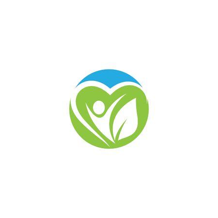 Wellnes logo template vector icon illustration