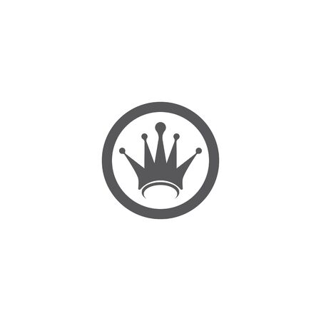 Crown logo template vector illustration design Illustration