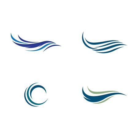 Water wave logo vector icon illustration design Ilustração