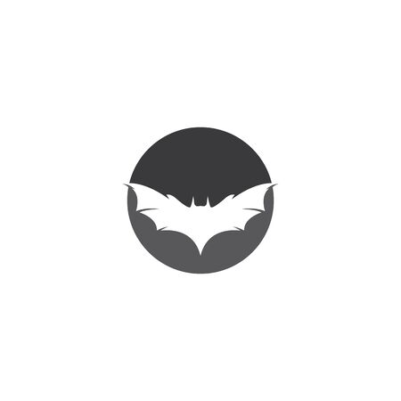 Bat logo template vector icon illustration design Logo