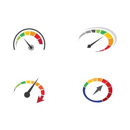 Speed logo template vector icon illustration design