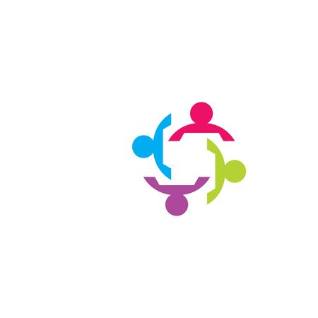 Community logo template  vector icon illustration design Ilustração